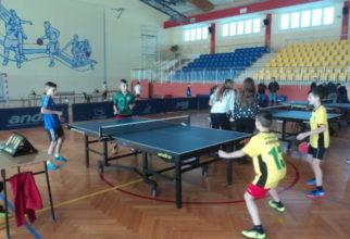 Zawody powiatowe w tenisie stołowym chłopców