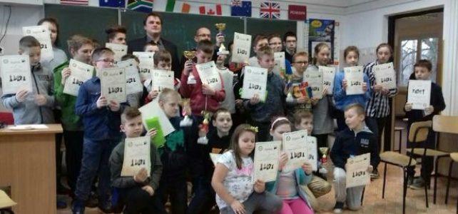 Wspaniałe wyniki naszych uczniów w Turnieju Szachowym o Puchar Dyrektora Szkoły Podstawowej w Zgłobniu