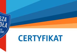 """Certyfikat """"Lepsza szkoła"""""""
